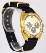 RARE Vintage Movado Datachron HS360 14k Gold Plated Chronograph 38mm Watch