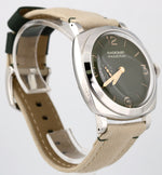 2019 Panerai PAM 995 Radiomir Green Dial 45mm Stainless Canvas Watch PAM00995