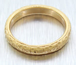 Vintage Estate 18k Solid Yellow Gold Dimpled Band Ring