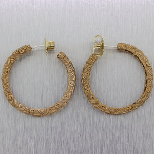 Stephen Dweck Sterling Silver Gold Toned Hoop Earrings