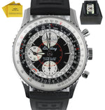Breitling Datora Montbrillant Panda White Chronograph Stainless Auto A21330 43mm