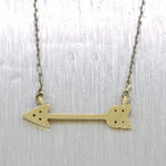 "Modern 14k Yellow Gold 0.04ctw Diamond Arrow 16"" Necklace"