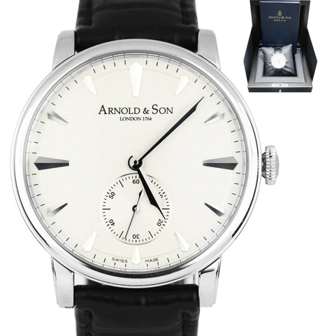 Arnold & Son Royal Collection Stainless 1LCAS.S01A.C111S 40mm Leather Band Watch