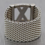 "Tiffany & Co. Sterling Silver Mesh ""X"" Ring"