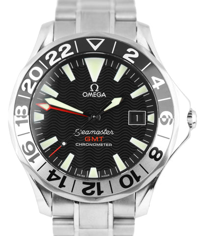 Omega Seamaster 41mm Black 50th Co-Axial 300M 2534.50.00 Steel GMT Watch