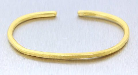 "Modern 24k Solid Yellow Gold DIllon Gage Certified 7.50"" 1oz Bangle Bracelet"
