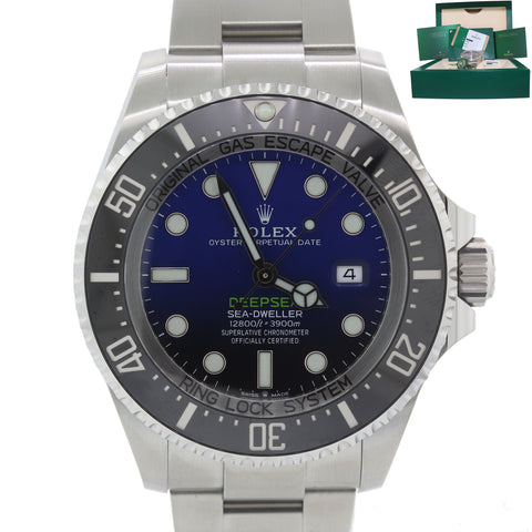BOX PAPERS 2018 Rolex Sea-Dweller Deepsea Cameron Blue 126660 44mm Watch B9