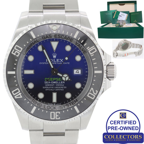 MINT 2018 Rolex Sea-Dweller Deepsea Cameron Blue 126660 44mm Watch A9