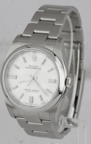 BRAND NEW Rolex Oyster Perpetual 36mm Stainless Steel White Stick Watch 116000