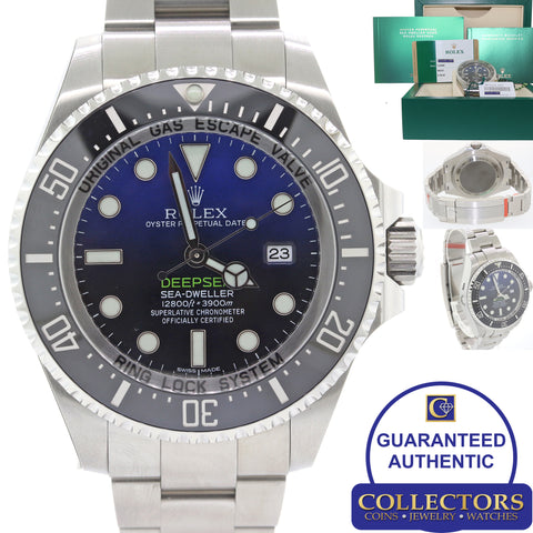 NEW STICKERED 2016 Rolex Sea-Dweller Deepsea Cameron Blue 116660 44mm Watch C8