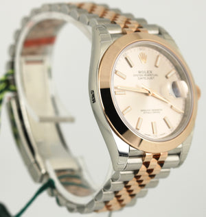 NOS 2017 Rolex DateJust 41 126301 Sundust Smooth Everose Gold Two-Tone Jubilee