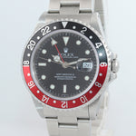 RSC Papers Rolex GMT-Master II Coke GMT Steel 16710 Date 40mm Watch 2020 Service