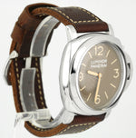 Panerai PAM 0663 Luminor Automatic Stainless Brown Brevettato 47mm Watch PAM0663