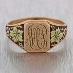 1890's Antique Victorian 10k Rose Gold Signet Ring
