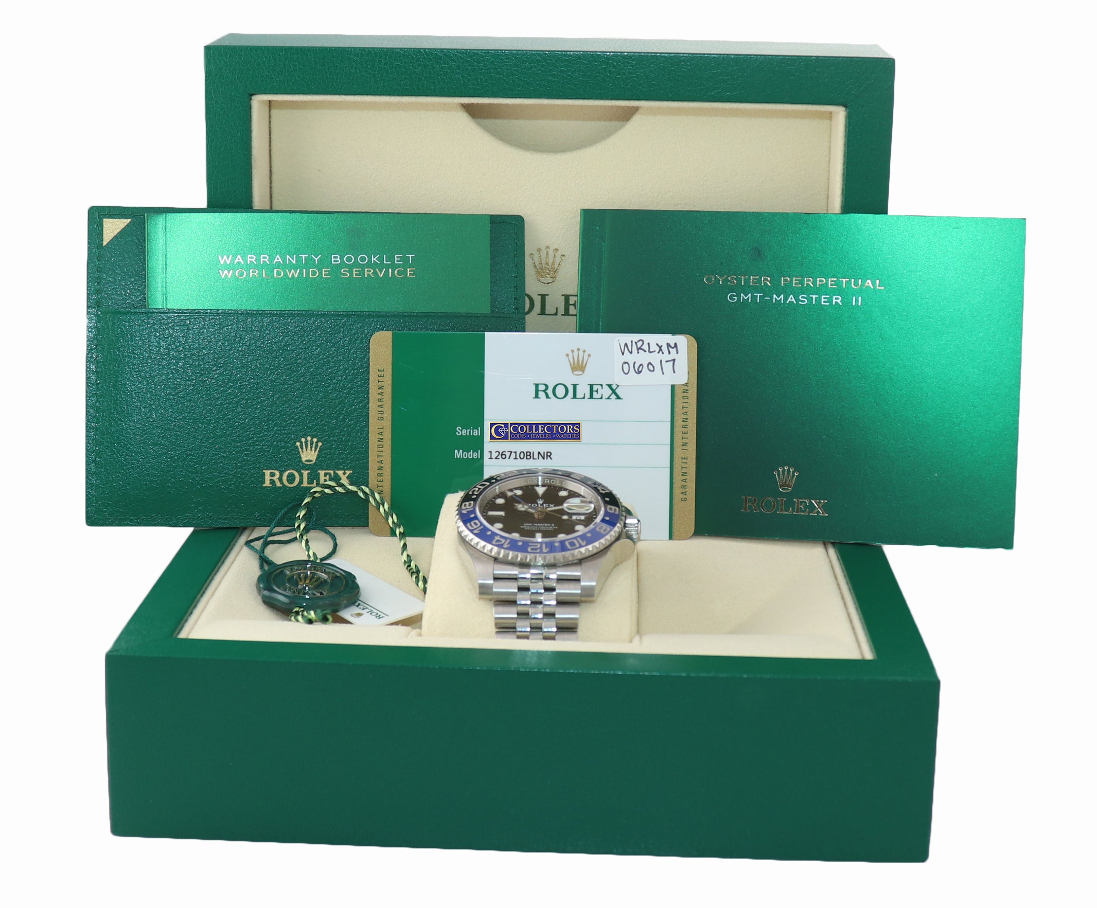 July 2020 NEW PAPERS Rolex GMT Master Batman Blue Jubilee Ceramic 126710 Watch