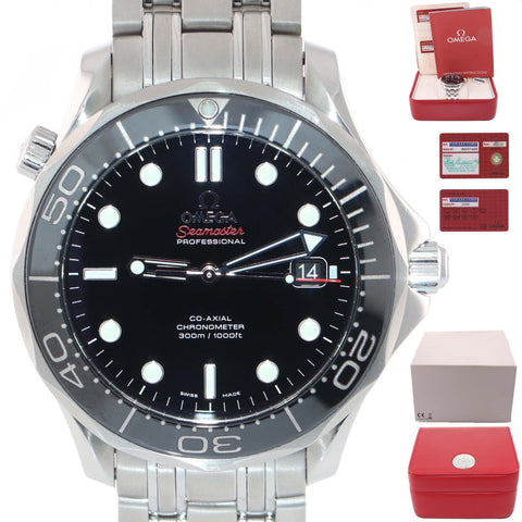 2014 Omega Seamaster 41mm Black Co-Axial 300M 212.30.41.20.01.003 Steel Watch