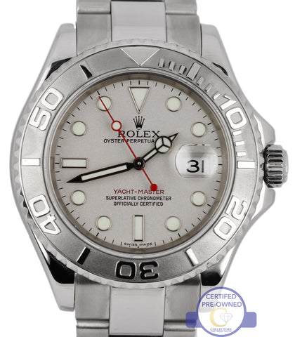2008 MINT Rolex Yacht-Master 16622 Stainless Platinum Rolesium 40mm Date Watch