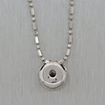 "Modern 14k White Gold 0.33ct Diamond Bezel 16"" Necklace"