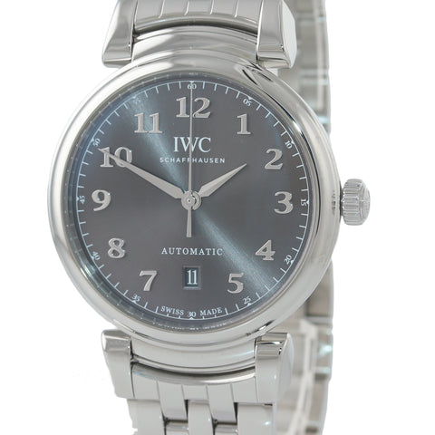 MINT IWC Schaffhausen Da Vinci IW356602 Steel Grey Arabic 40mm Automatic Watch