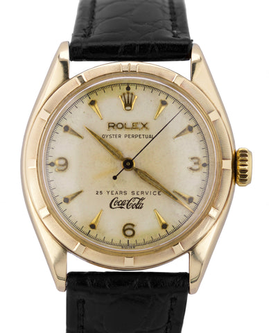 1953 Rolex Oyster Perpetual COCA COLA 25 YEARS 34mm 14K Yellow Gold 6085 Watch