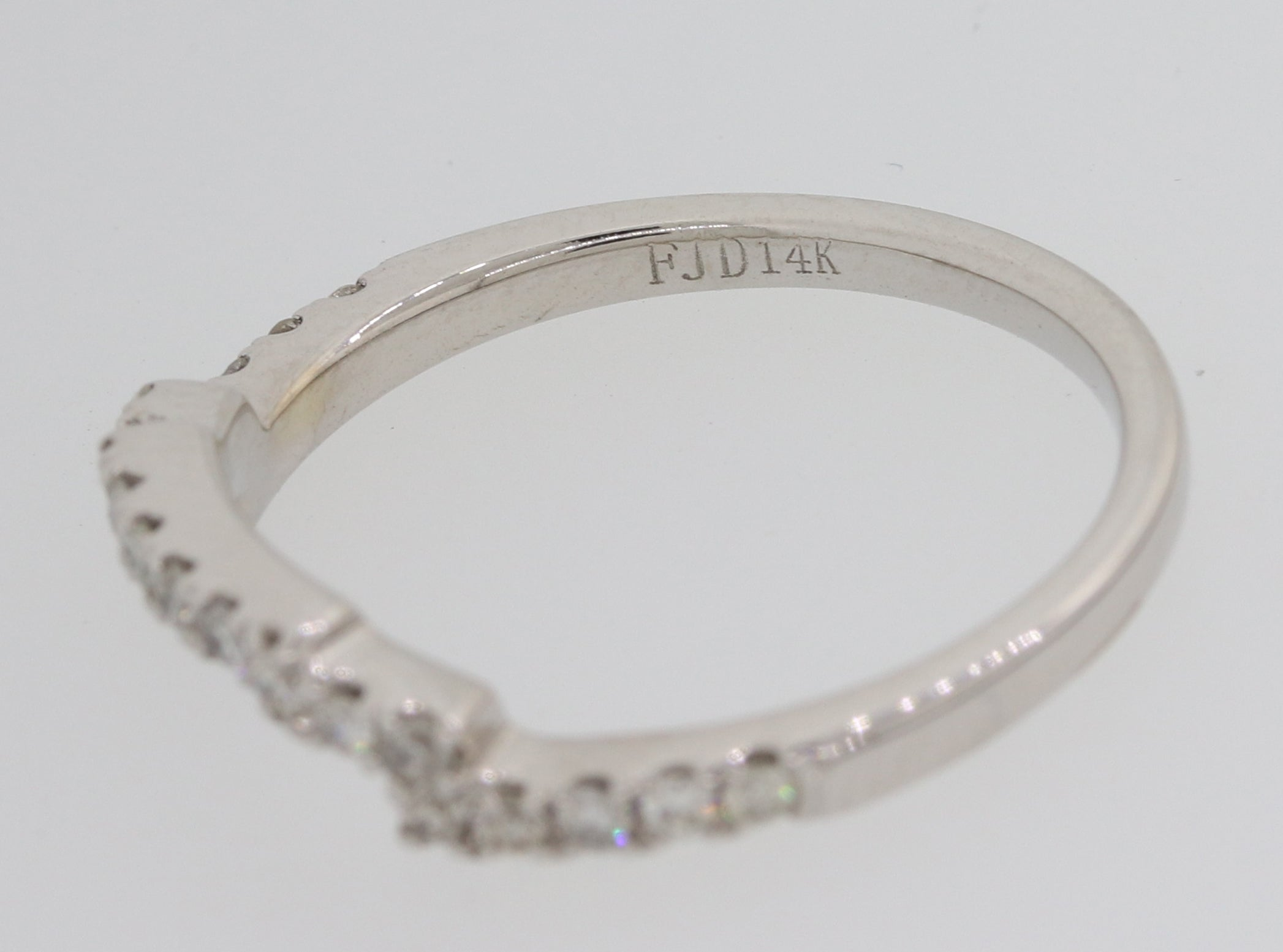18k White Gold 1.95ctw Diamond Asscher Diamond Wedding Ring Set EGL M8 $13400