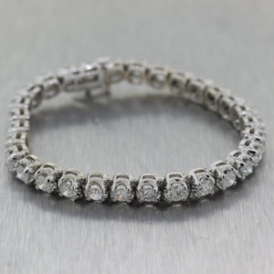 Modern 14k White Gold 9ctw Diamond Tennis Bracelet