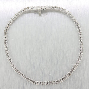 Modern 14k White Gold 2.65ctw Diamond Tennis Bracelet