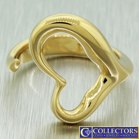 Vintage Estate 14k Solid Yellow Gold TIffany & Co. Elsa Peretti Heart Ring
