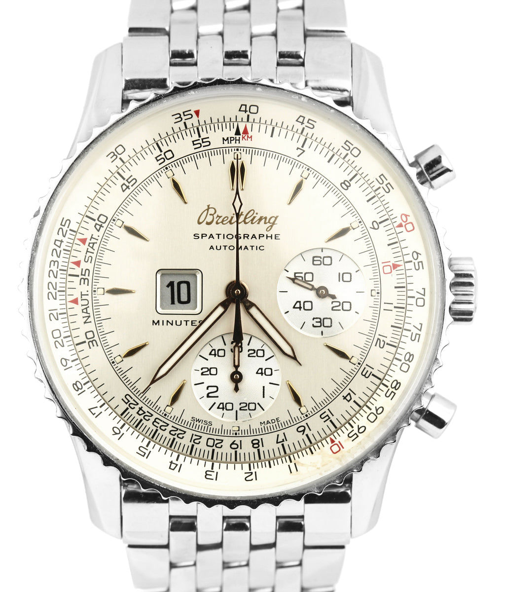 Breitling Montbrillant Spatiographe Chrono Automatic Steel White 41mm A36030.1