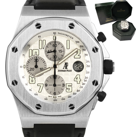 Audemars Piguet Royal Oak Offshore 26020ST.OO.D001IN.02 42mm Arabic Watch W/ Box