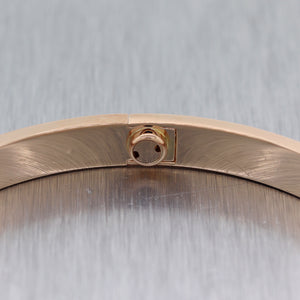 2015 Cartier 18k Rose Gold New Style Screw Love Bangle Bracelet BP Size 21