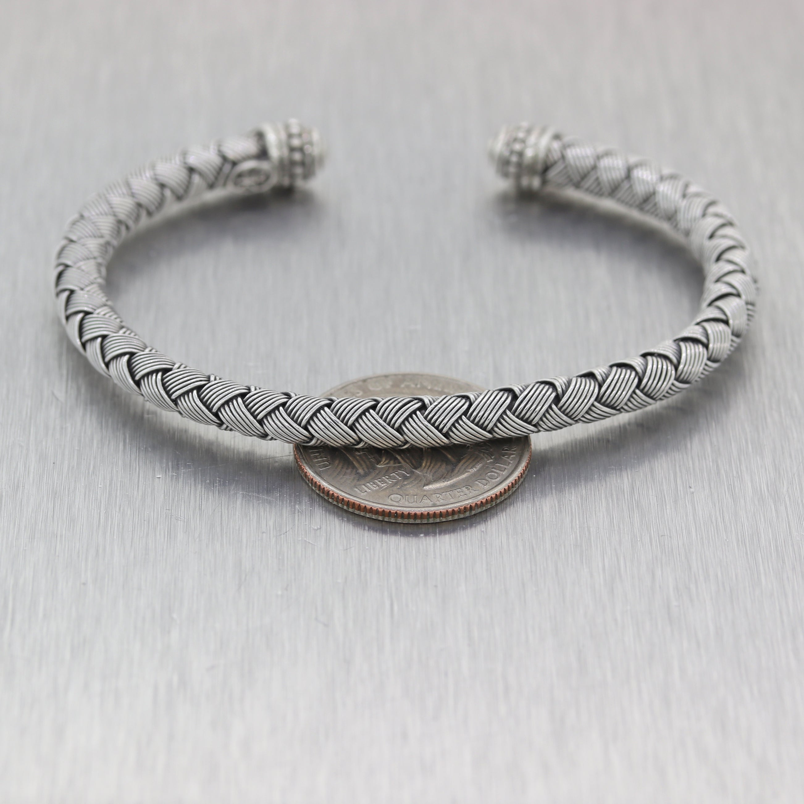 Scott Kay Sterling Silver Braided Wire Cuff Bracelet