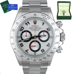 Rolex Daytona Cosmograph 116520 Silver Racing Stainless Automatic 40mm Watch