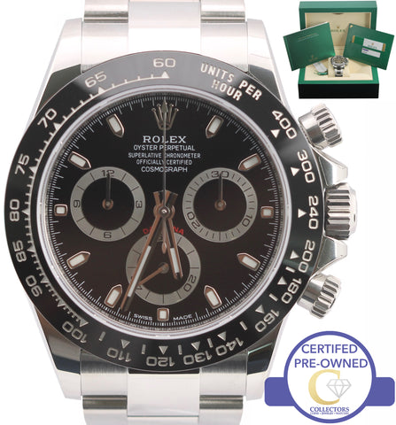 BRAND NEW AUGUST 2018 Rolex Daytona Cosmograph 116500 LN Black Chronograph Watch