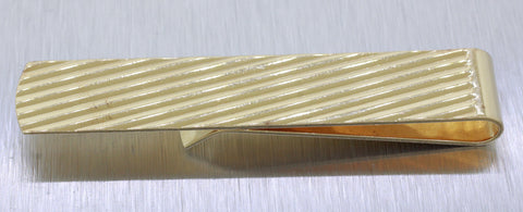 "Vintage Estate 14k Solid Yellow Gold 2.5"" 14.9g Thin Striped Money Clip"