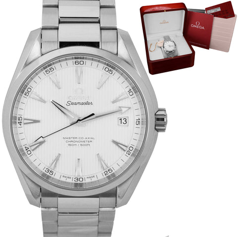 Omega Seamaster Aqua Terra Silver 41.5mm Co-Axial 231.10.42.21.02.003 Date Watch