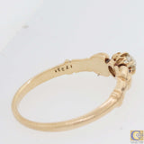 1880s Antique Victorian Estate 14k Rose Gold Old Mine Cut Diamond Ring M8