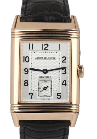 Jaeger LeCoultre JLC Reverso Duo Day Night 26mm 18k Gold Silver 270.2.54 Watch