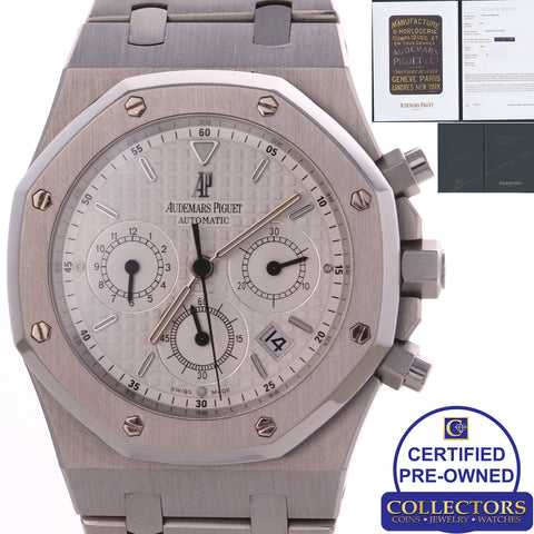 Audemars Piguet Royal Oak Chronograph 39mm 26300ST.OO.1110ST.05 Watch Papers C8