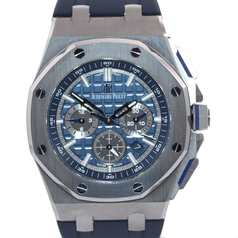 2020 PAPERS NEW Audemars Piguet AP Royal Oak Offshore Chrono 26480 Blue Watch