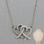 "Tiffany & Co. Paloma Picasso Sterling Silver Double Heart 18"" Necklace"