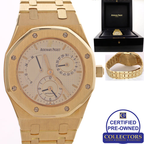 Audemars Piguet Royal Oak 25730BA.OO.0789BA.06 18k Gold Dual Time 37mm Watch C8