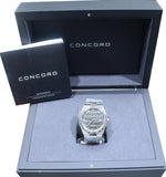 Stickered 2017 Concord Mariner Automatic Stainless Steel Gray Dial Date Watch