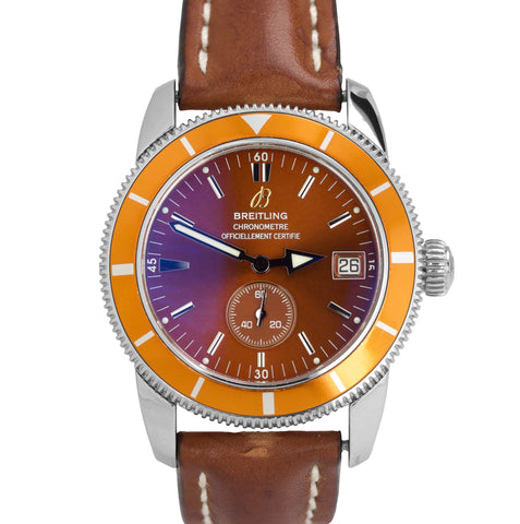 Breitling SuperOcean Heritage 38 Orange Bronze A37320 38mm Stainless Steel Watch