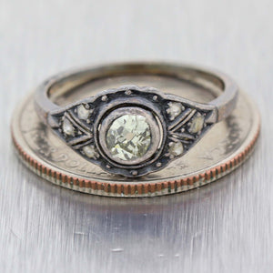Old European Cut .25ctw Diamond Gold Silver Antique Victorian Engagement Ring
