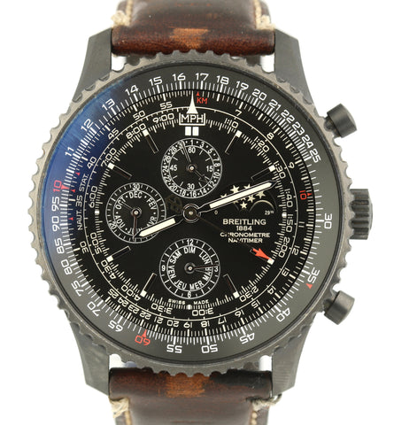 Breitling Navitimer 1461 Limited Edition Blacksteel M19380 Automatic 48mm Watch