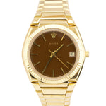 RARE Rolex 18K Yellow Gold 'El Texano' President 39mm Beta 21 Quartz Watch 5100