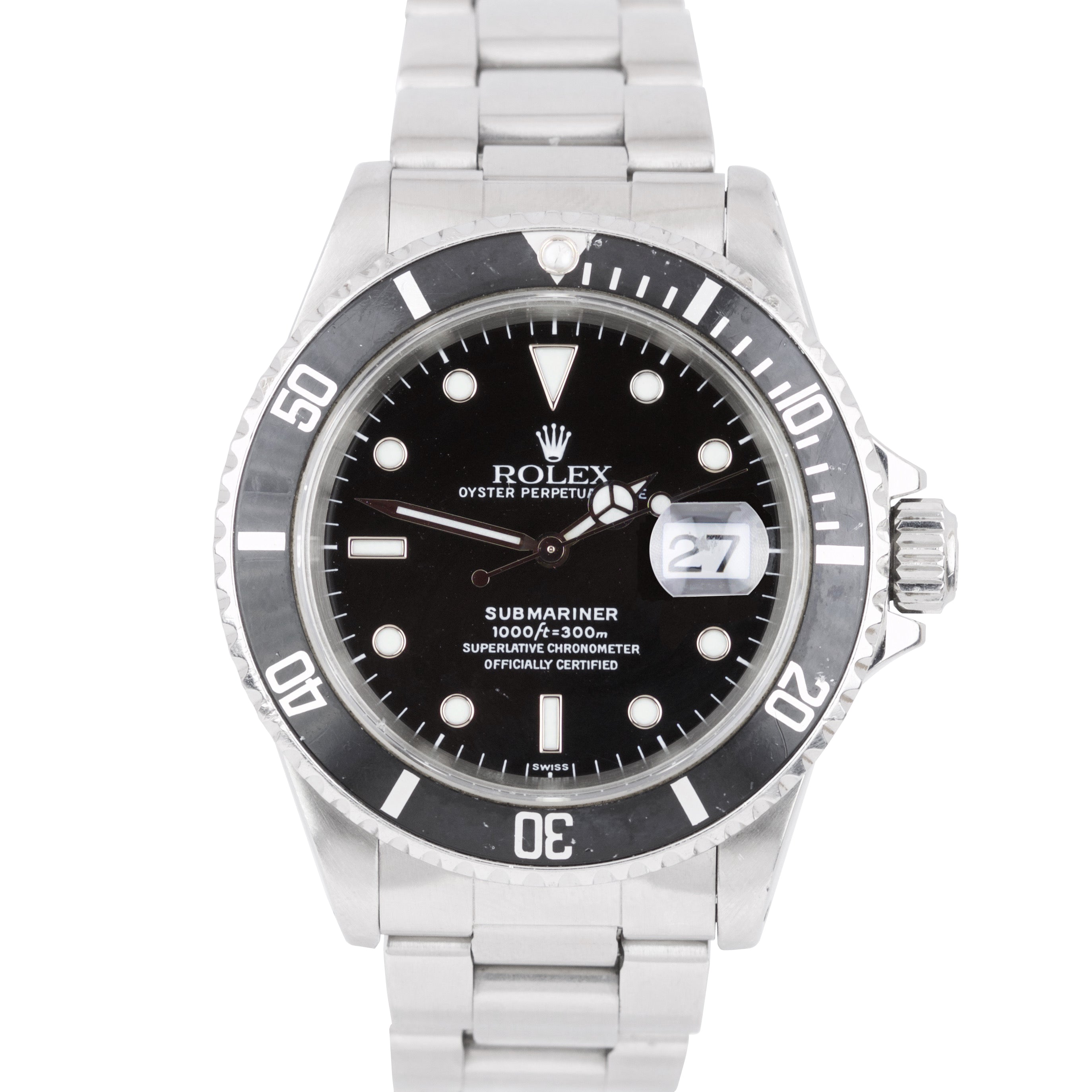 1999 Rolex Submariner Date U-SERIAL 16610 SWISS ONLY Stainless 40mm Dive Watch