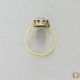 1920s Antique Art Deco Estate Platinum 14k Yellow Gold Diamond Cocktail Ring A8