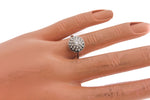 Lovely Ladies Estate 18K White Gold 0.45ctw Diamond Cluster Engagement Ring EGL